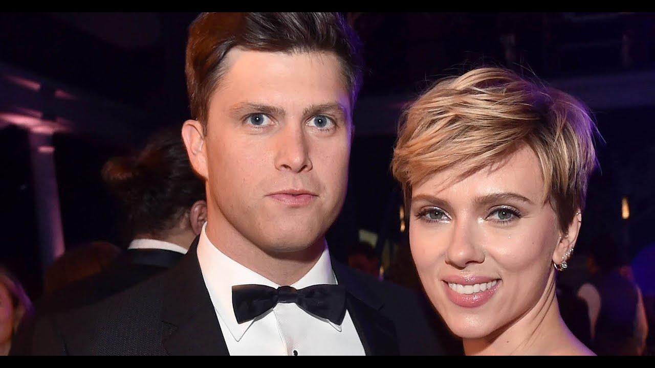 Scarlett Johansson, fiance Colin Jost share a sweet moment on ...