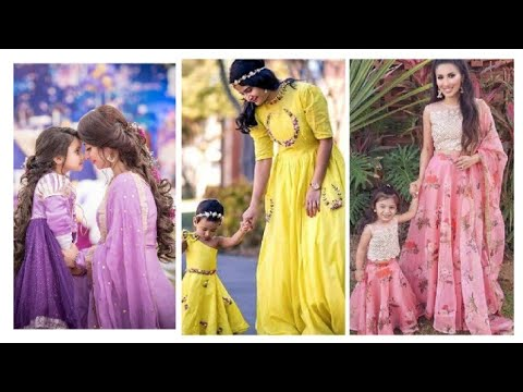 beautiful mother and daughter(娘) same dress Eid collection