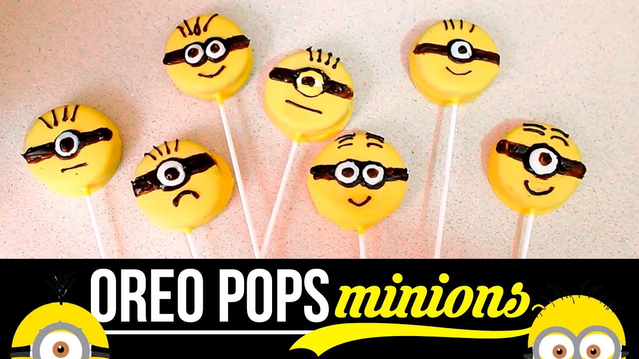 Oreo Pops De Minions Haz Tu Propio Ejército De Minions Paletas De Minions