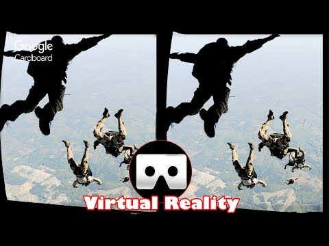 3D FREE PARACHUTE JUMP VR Videos 3D SBS Google Cardboard VR Virtual Reality VR Box