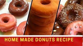 Home made donuts recipe/Easy doughnut recipe