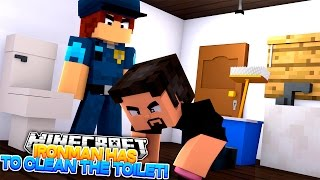 Minecraft Adventure - IRONMAN HAS TO CLEAN THE TOILETS AS PUNISHMENT