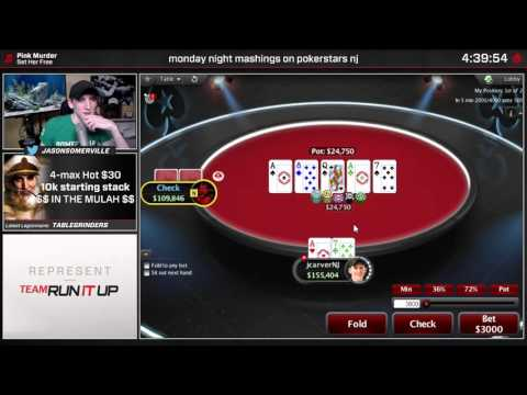 Full House vs. Full House Poker Hand - Jason 'JCarver' Somerville   Twitch Poker