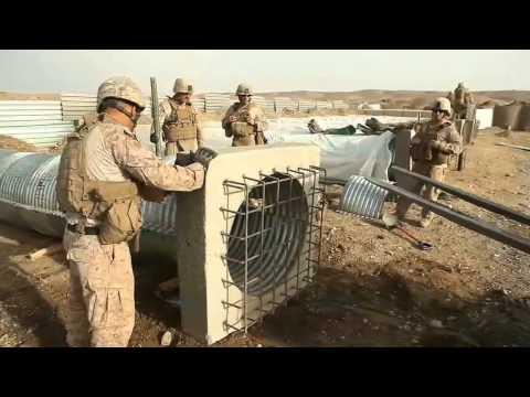 Marines build bridge in Afghanistan