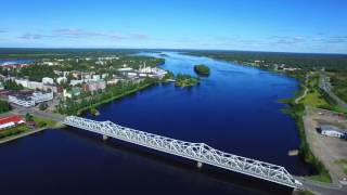 Tornio - Haparanda a sunny morning in August captured with DJI Inspire 1