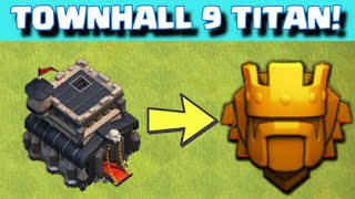 TH9 in Titans | GoWiPeVa Raids above 4100 Trophies | Trophy Pushing with Ground Troops |