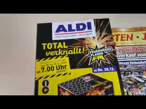vuurwerk folder aldi nord 2017 2018 youtube