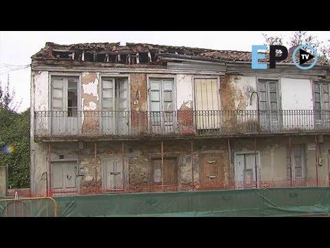 Colapso en cadena de las casas del burgo medieval de Monforte