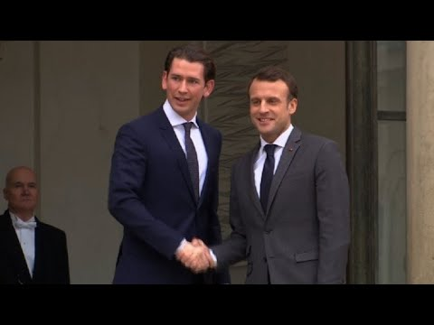 After boost in Berlin, Macron sells EU vision to Kurz