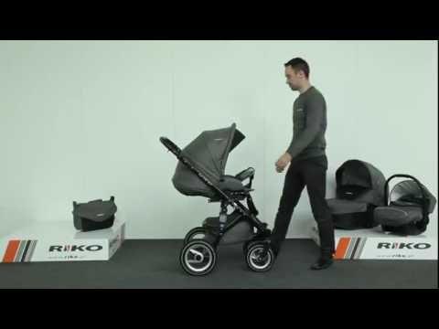 Детская модульная коляска RIKO Brano 3 в 1