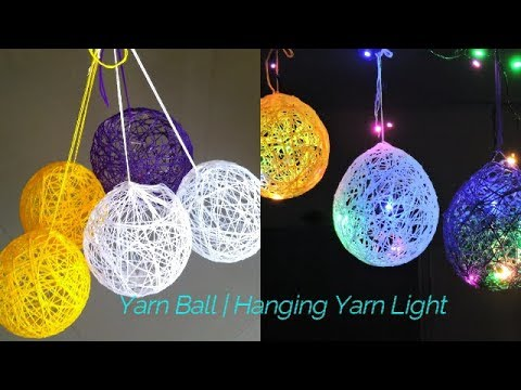 How to Make a Lantern with Yarn | Gorgeous DIY Yarn Orbs | How to Make Balloon Orbs