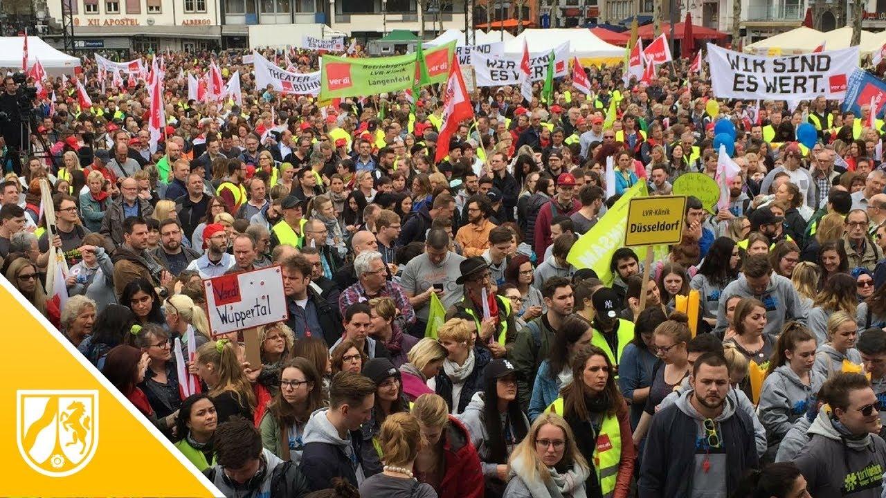 Kundgebung Auf Dem Heumarkt In Köln Verdi Streik Legt Nrw Lahm
