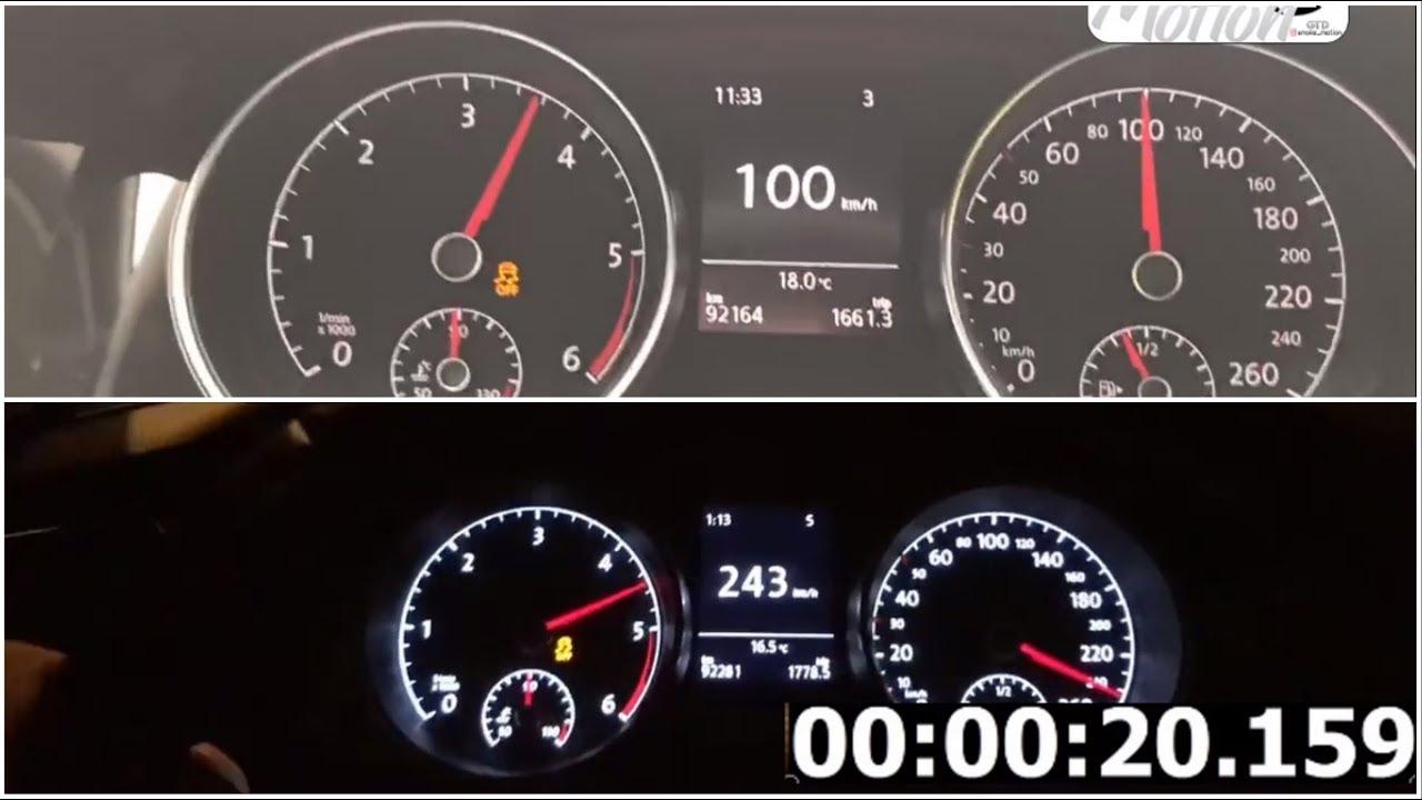 Golf 7 1.6 TDI   0-100   100-200-240 km/h   Acceleration   Top Speed   Vmax   Big Turbo