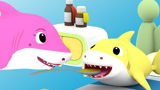 Baby Shark is Sick Song | Baby Shark Family Nursery Rhymes & Kids Songs