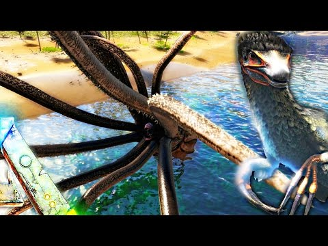 ARK Survival Evolved - TUSOTEUTHIS RIPS MOSA APART, THERIZINOSAURUS & TROODON ( Update Gameplay )