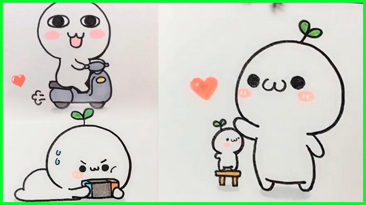 cách vẽ hình cute đơn giản – vẽ hình icon #5