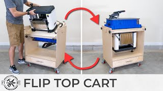 Flip Top Tool Stand with NEW Features | DIY Shop Storage