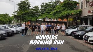 Nuvolks Morning Run 14 Jan 2018