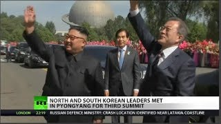 Video North and South Korean Leaders Meet in Pyongyang download MP3, 3GP, MP4, WEBM, AVI, FLV September 2018