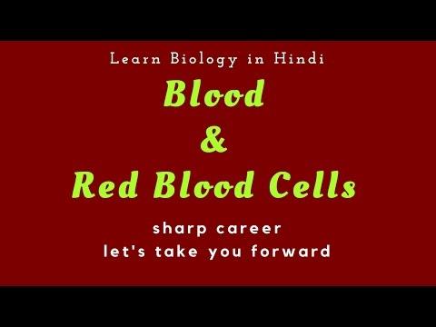 (लाल रक्त् कणिकाएं)Blood, its parts & R.B.C. (in Hindi)