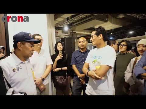 Bapak Sandiaga Uno hadir di Bosch Woodworking Workshop di Jakarta Creative Hub