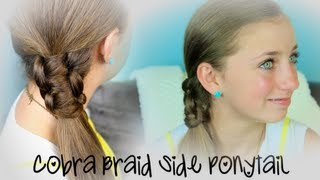 Cobra Braid Side Ponytail | Cute Girls Hairstyles thumbnail