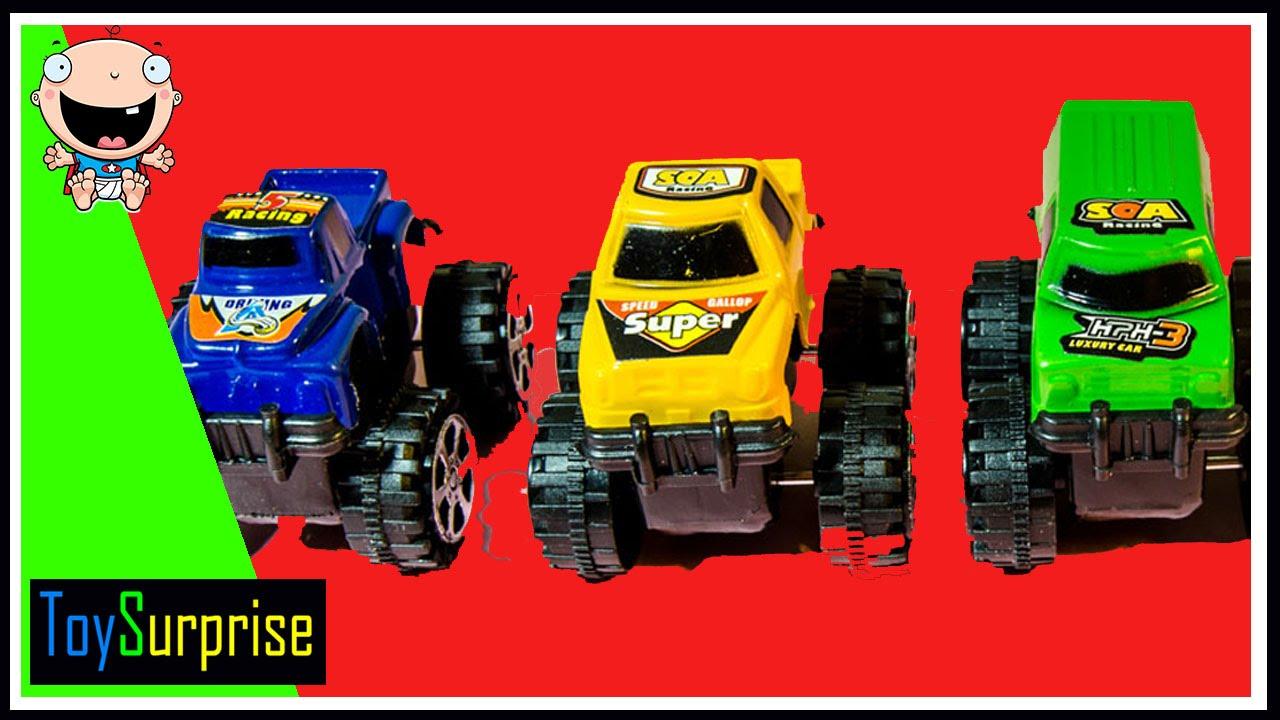 Aprende los colores con camiones monstruos para niños en ...