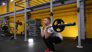 Barbell Clean and Squat