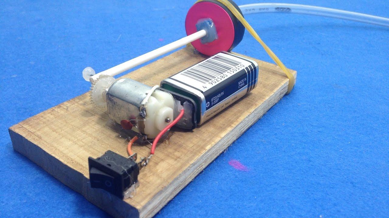 How to Make a Mini Air Pump for Aquarium - YouTube