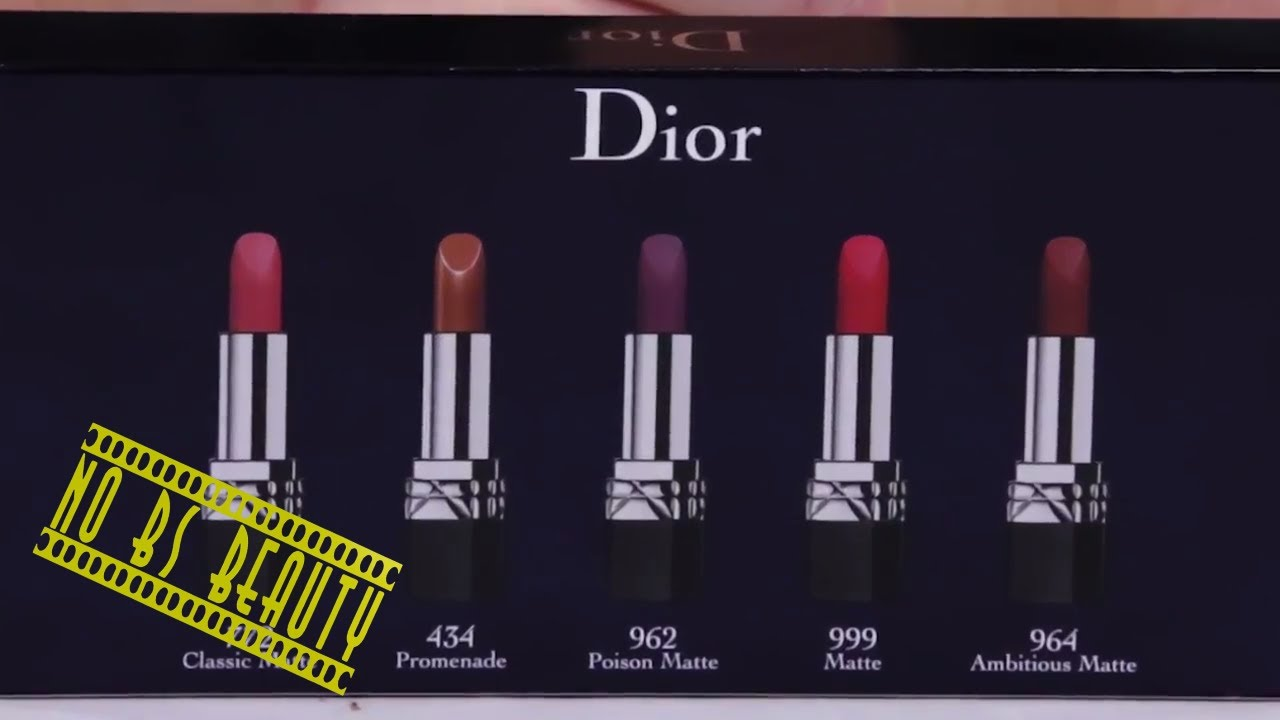 miniature dior noel 2018 Dior Rouge Dior Mini Lipstick Set Review and Full Swatches   YouTube miniature dior noel 2018