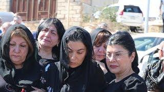 Sevil Nuriyeva həyat yoldaşının dəfnində- İşadamı Türkiyədə öldürülüb