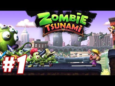 Trò Chơi Con Ma Quậy Phá Zombie Tsunami Lồng Tiếng Vui Nhộn Funny Gameplay #1