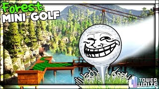 FOREST GOLF HOLE IN ONE | Golf with Friends ... and Simon | Tower Unite Mini Golf