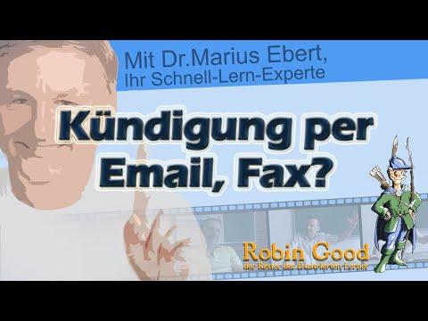 Kündigung Per Fax