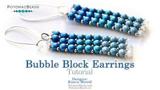 Bubble Block Earrings- DIY Jewelry Making Tutorial by PotomacBeads