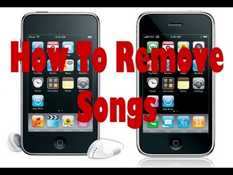 How To  Remove Songs From Your Iphone and Ipod With Itunes