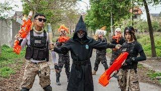 MASK Nerf War : Warrior Alpha Nerf Guns Fight Criminal Group Mask Dangerous Criminals