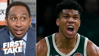 Giannis is going to be in 'attack mode' against Kawhi, Raptors in Game 1 - Stephen A.   First Take