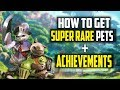 How To Get ALL SUPER RARE Pets And ACHIEVEMENTS In Monster Hunter World