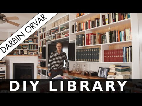 DIY Home Library with LED Lighting