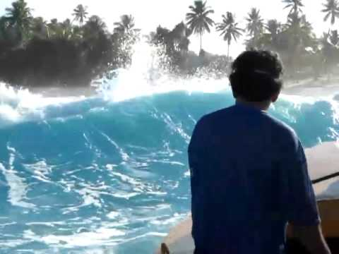 Landing Niulakita Island of Tuvalu