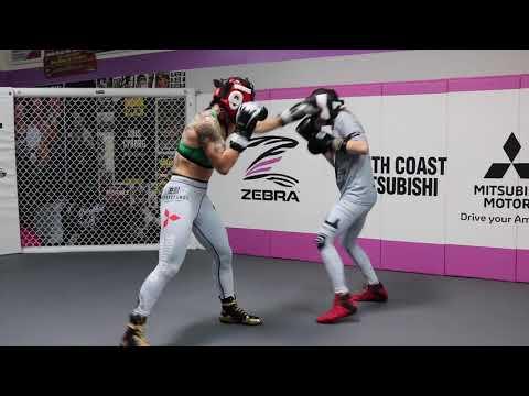 Cris Cyborg Full Media Workout In Huntington Beach - UFC 232