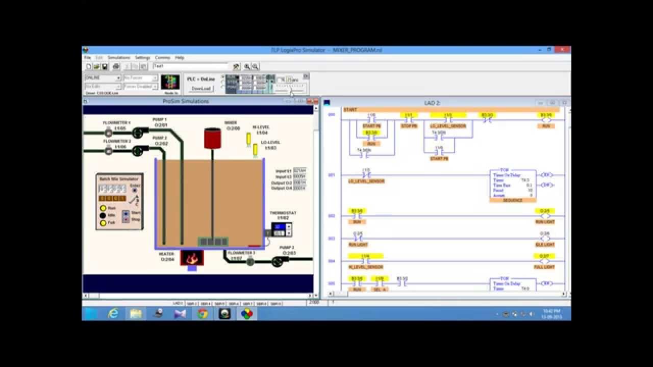 Plc logix pro sim mixer ladder program youtube plc logix pro sim mixer ladder program ccuart Choice Image