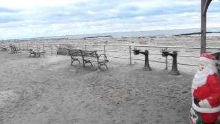 Hurrican sandy coney island beach day after.mov
