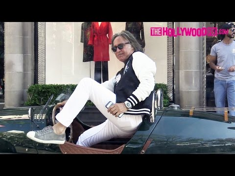 Mohamed Hadid & Khalifa Sultan Arrive To The Beverly Wilshire Hotel In A 1934 Morgan Trike 8.3.16
