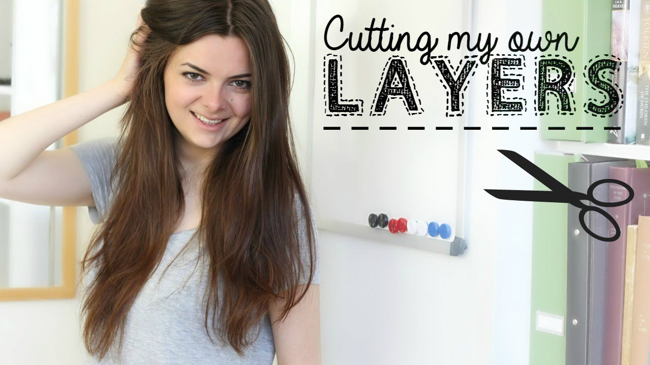 How I Cut My Hair In Layers YouTube - Diy ponytail cut layers