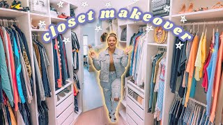 EXTREME CLOSET MAKEOVER 🛠 (budget friendly ideas & organization tips!)
