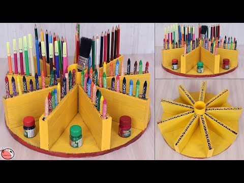 How we make pen stand with waste material