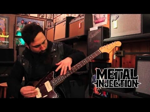 Monte Pittman shows how to guitar shop at Matt Umanov Guitar Shop on Metal Injection