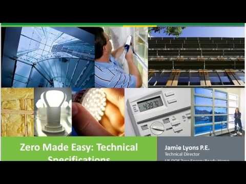 Zero Made Easy DOE Zero Energy Ready Home Specifications  Pt2